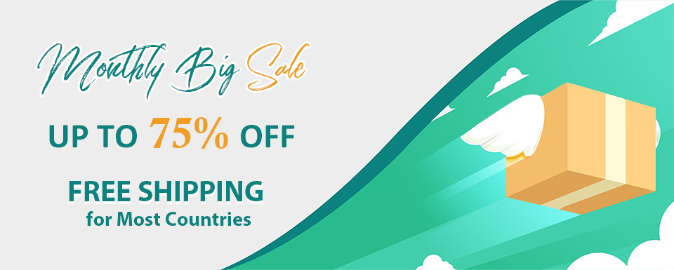 Monthly Big Sale Up To 75% OFF