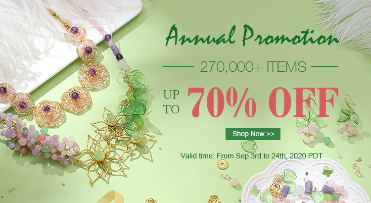 Annual Promotion 270,000+ Items Up to 70% OFF